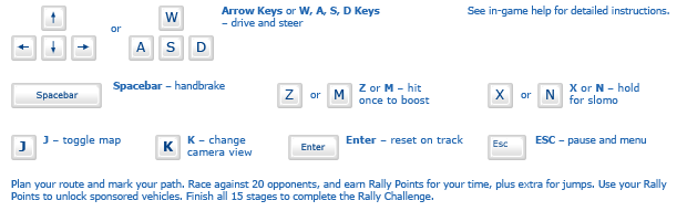 Extreme Rally Run instructions