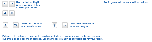 Into Space instructions
