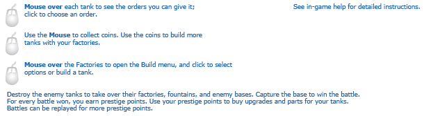 Thanks Tanks instructions