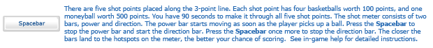 3D 3 Point Shootout instructions